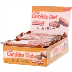 Universal Nutrition, Doctor's CarbRite Diet Bars, Chocolate Peanut Butter, 12 Bars, 2.00 oz (56.7 g) Each