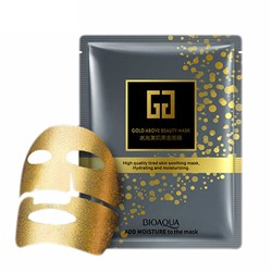 ЛИФТИНГ-МАСКА ИЗ ЗОЛОТОЙ ФОЛЬГИ С ГИАЛУРОНОВОЙ КИСЛОТОЙ BIOAQUA GOLD ABOVE BEAUTY MASK ~ 1