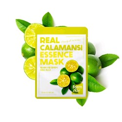 FarmStay Real Essence Mask Calamansi Маска-салфетка ЛАЙМ, 23мл