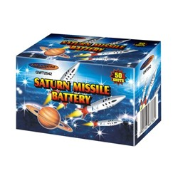 "Батарея салютов Maxsem, 0,7""-50 залпов, ""Катюша"" Saturn missile battery, GWT2542"
