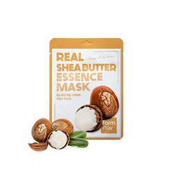 FarmStay Real Essence Mask Shea Butter Маска-салфетка МАСЛО ШИ, 23мл