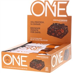 One Brands, ONE Bar, Chocolate Brownie, 12 Bars, 2.12 oz (60 g) Each