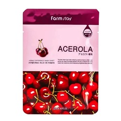 FarmStay Visible Difference Mask Sheet Acerola Маска-салфетка ВИШНЯ, 23мл