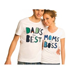 "Футболки парные ""Best dad and boss mom"""